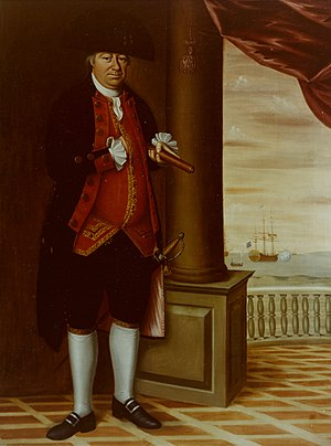 Continental Navy - Abraham Whipple painting by Edward Savage