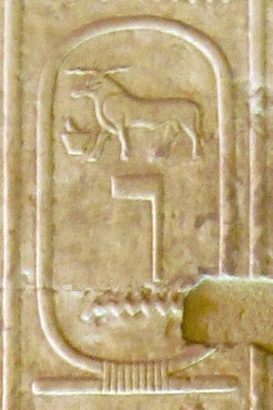 Nynetjer - Cartouche of Nynetjer in the Abydos King List (no. 11).