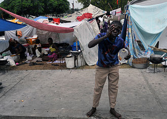 2010 Haiti cholera outbreak - Having lost their homes in the 2010 earthquake, many Haitians still live in precarious camps without water and sewage systems