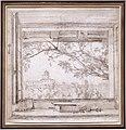 Achille-etna michallon, veduta di villa medici e santa trinità dei monti dallo studio di ingres nel padiglione di s. gaetano, roma, 1819.jpg