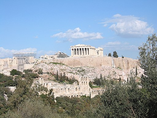 Acropolis Athens in 2004