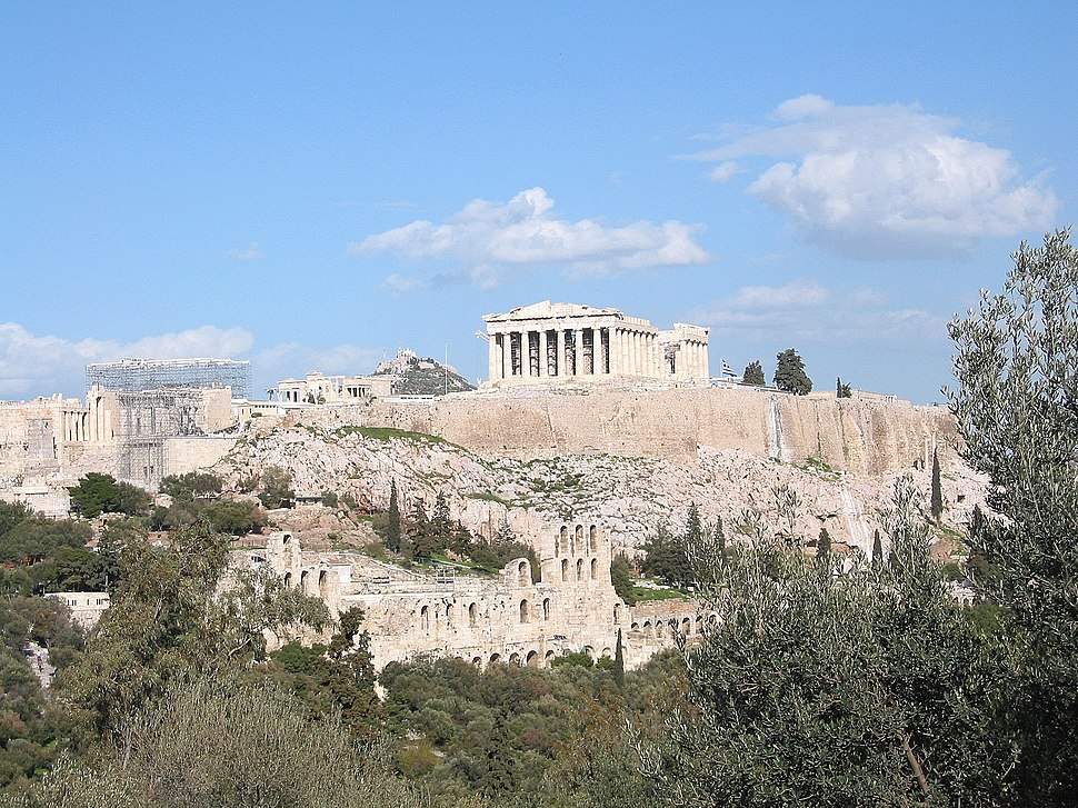 Acropolis Athens in 2004