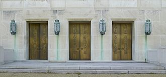 John Adams Building - Lee Lawrie, sculpted bronze figures, east entrance doors