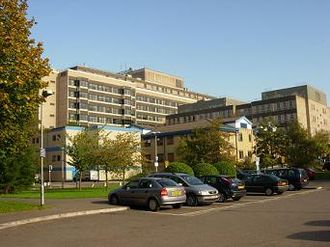 Cambridge Biomedical Campus - Addenbrooke's Hospital viewed from the south.
