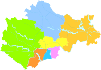 Bengbu - Image: Administrative Division Bengbu