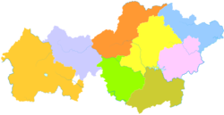 Zhijin is the southernmost division in this map of Bijie