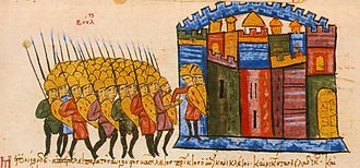 Byzantine–Bulgarian war of 913–927 - The Bulgarians capture the important city of Adrianople, Madrid Skylitzes