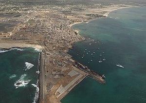Sal Rei - Aerial view of Sal Rei