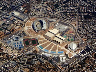 Athens Olympic Sports Complex - Image: Aerial view of Olympic complex in Athens 2004 DSC06793