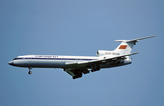Aeroflot Flight 7425 - An Aeroflot Tupolev Tu-154B-2 similar to the one involved in the accident is seen here at Zürich Airport in 1982.