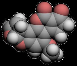 Molecular spacefill of Aflatoxin
