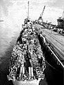 Aft view of USS Austin (DE-15) at the San Francisco Naval Shipyard on 7 November 1944.jpg