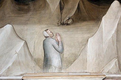 Maso di Banco, Giudizio finale e Bettino de' Bardi inginocchiato, (partecolare Bettino de' Bardi inginocchiato), Cappella Bardi di Vernio, Basilica di Santa Croce, Firenze