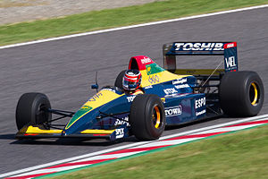Aguri Suzuki - Suzuki demonstrates his Larrousse-Lola 90 at Suzuka in 2012 - the scene of his podium finish 22 years earlier.