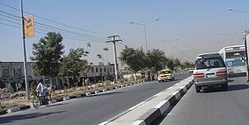 Airport Road in the Wazir Akbar Khan district of the city.