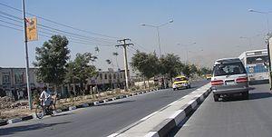 Airport Road in Kabul City