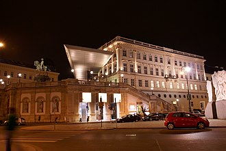 Tourist attractions in Vienna - The Albertina at night