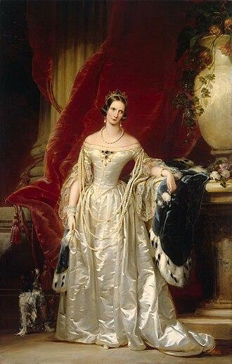 Alexandra Feodorovna (Charlotte of Prussia) - Alexandra Fedorovna by C. Robertson 1840s, Hermitage