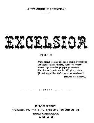Alexandru Macedonski - First page of Excelsior, 1895