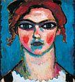 Alexej von Jawlensky Junges Mädchen mit den grünen Augen c1910.jpg