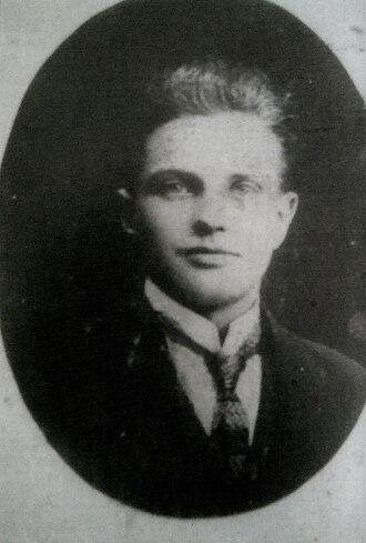 Fianna Éireann - Brigadier Alf Colley, killed during Irish Civil War at Whitehall, August 1922