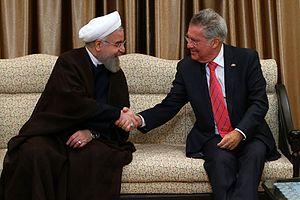 President of Austria - Austrian President Heinz Fischer meets Iranian President Hassan Rouhani, 8 September 2015