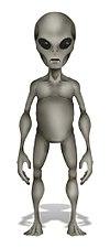 Vue d'artiste d'un extraterrestre humanoïde
