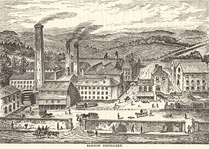 Bandon Distillery - The Bandon Distillery, circa 1885.