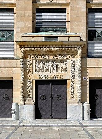 Othmar Schimkowitz - Image: Alsergrund (Wien) Hauptgebäude der Österreichischen Nationalbank, Haupteingang