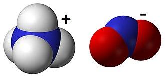 Ammonium nitrite - Image: Ammonium Nitrite 3D