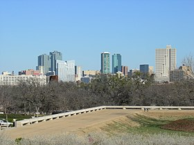 Downtown Fort Worth, Texas, in 2007