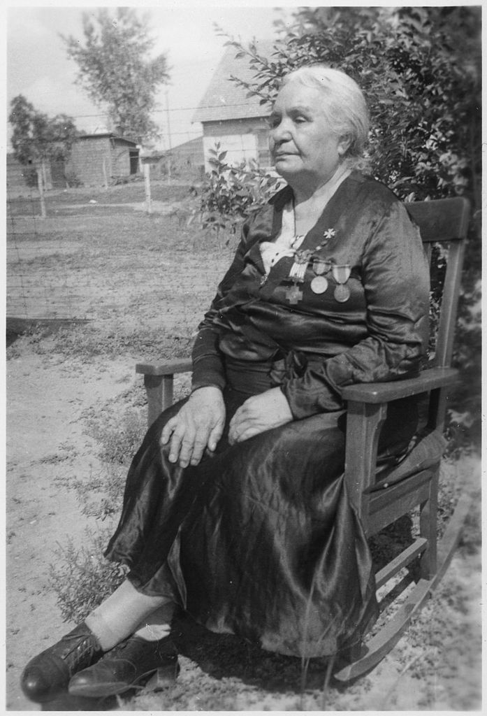 File An Elderly Indian Woman In Rocking Chair Nara