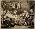 An old couple lying in their sick bed receive charity from a Wellcome V0015145.jpg