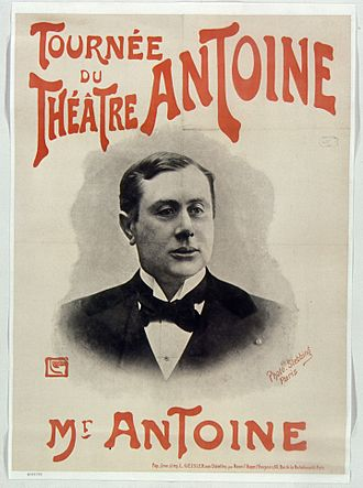 André Antoine - Theatrical tour poster, 1903