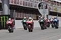 Andrea Dovizioso leads the pack 2019 Catalunya.jpeg