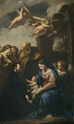 Andrea Vaccaro - St Cajetan before the Holy Family.jpg