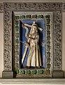 Andrea della robbia (attr.), cristo portacroce, 1513,. entro cornice di Simone di Bernardino Bassi del 1557.jpg