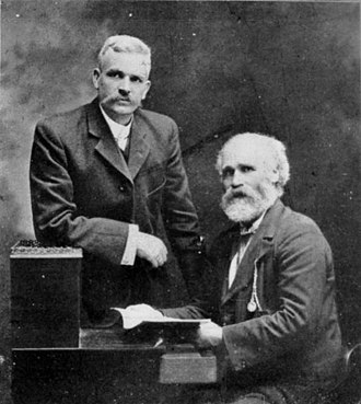 Keir Hardie - Hardie with Andrew Fisher, leader of the Australian Labor Party, in 1907. The two first met as young men during the 1881 Ayrshire coal miners' strike.
