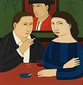 """Andrew Stevovich oil painting, Barcelona, 2007 11"""" x 11"""".jpg"""