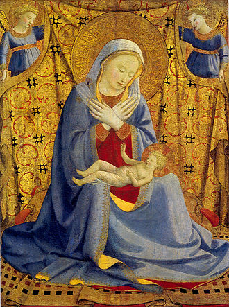 Madonna of humility - Fra Angelico, c. 1430.