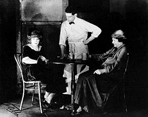 Anna Christie - Pauline Lord as Anna Christopherson, James T. Mack as Johnny-the-Priest, and Eugenie Blair as Marthy Owen in the original Broadway production of Anna Christie (1921)