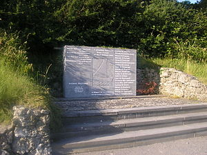 Annaghdown - Memorial at Annaghdown Pier, erected in 1978 in memory of those drowned in 1828