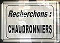 """Annonce """"Recherchons chaudronniers"""" dans une agence de travail temporaire, rue Cuvier à Lyon.JPG"""