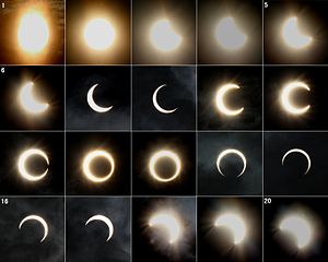 Solar eclipse of May 20, 2012 - Image: Annular solar eclipse 2012 May 21, Japan