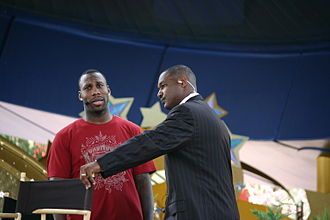 Derrick Brooks - Derrick Brooks, with Anquan Boldin