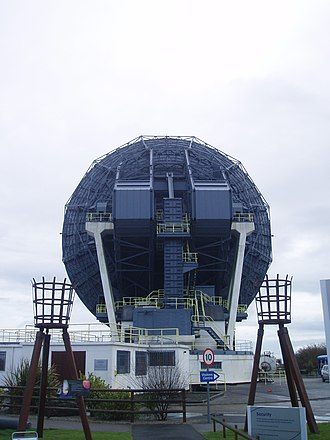 Goonhilly Satellite Earth Station - Image: Antenna One (Arthur) at Goonhilly (rear view)