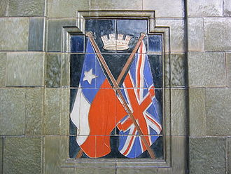 British and Chilean flags in a monument in Antofagasta city Antofagasta.jpg