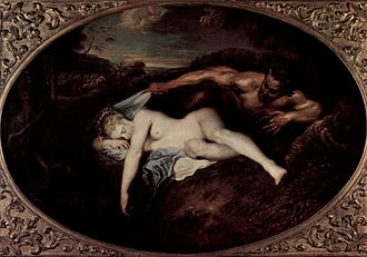 Antiope (mother of Amphion) - Jupiter and Antiope, by Antoine Watteau.
