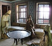 The Queen Mother and her attendants in her apartments