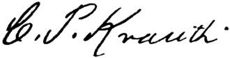 Charles Porterfield Krauth - Image: Appletons' Krauth Charles Philip Charles Porterfield signature